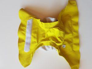 photo d'une couche hamac de couleur jaune